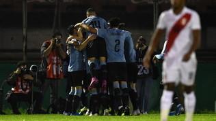 Amichevoli: Uruguay-Perù 1-0, la Celeste vince senza Suarez e Cavani
