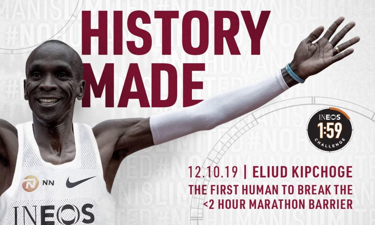 La clamorosa impresa diEliud Kipchoge, primo uomo nella storia a correre la maratona sotto il muro delle 2 ore, ha lasciato a bocca aperta anche tanti colleghi del mondo dello sport che sui social si sono complimentati con il maratoneta keniano.