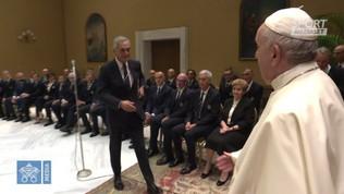 La Nazionale in visita dal Papa