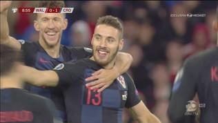Galles-Croazia 0-1: il gol di Vlasic