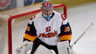 Petr Cech, che debutto nell'hockey ghiaccio