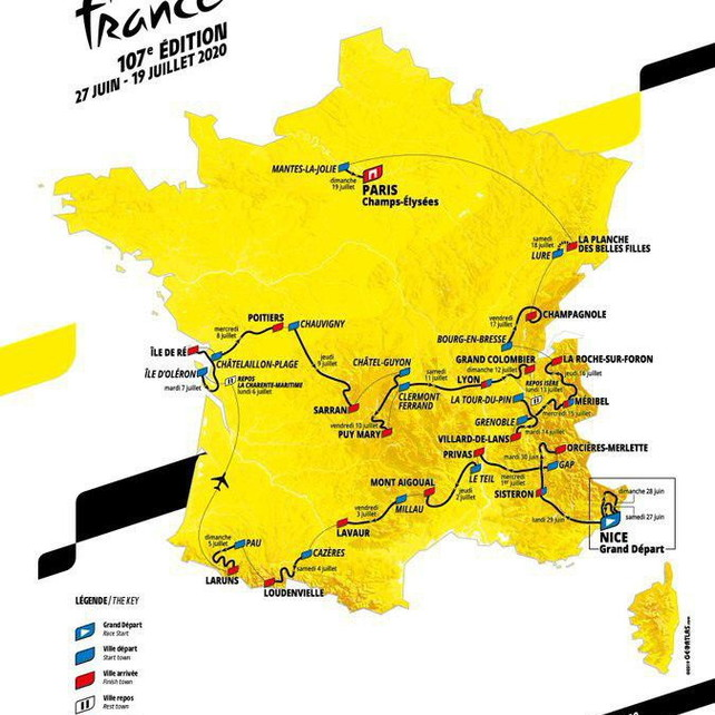 Il Tour de France 2020 cancella le salite mitiche