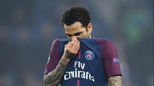 """Dani Alves: """"Parigi non mi piace, è piena di fottuti razzisti"""""""