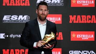 Messi, un altro premio: vince la sesta Scarpa d'oro e stacca CR7