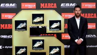 Messi vince la sesta Scarpa d'oro