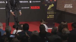 """Messi Scarpa d'Oro, i figli si """"litigano"""" il trofeo"""