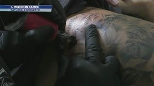 Il medico in campo: tatuaggi e sequestri