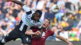 Udinese-Torino, le foto del match