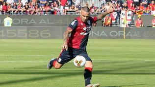 """Cagliari, Nainggolan: """"Dedico il gol a mia moglie"""""""
