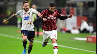 Serie A: Milan-Lecce 2-2, Calderoni rovina la prima di Pioli