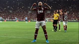Gabigol trascina il Flamengo in finale. L'Inter si sfrega le mani