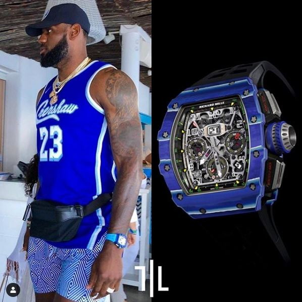 LeBron James indossa un Richard Mille RM 11-03 Jean Todt 50th Anniversary.  Valore di mercato : 350mila euro.
