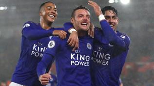 Leicester nella storia: 9-0 alSouthamptone record in Premier