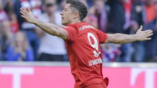 Bundesliga: il Bayern piega 2-1 l'Union Berlino e torna in testa, Lewandowski entra nella storia