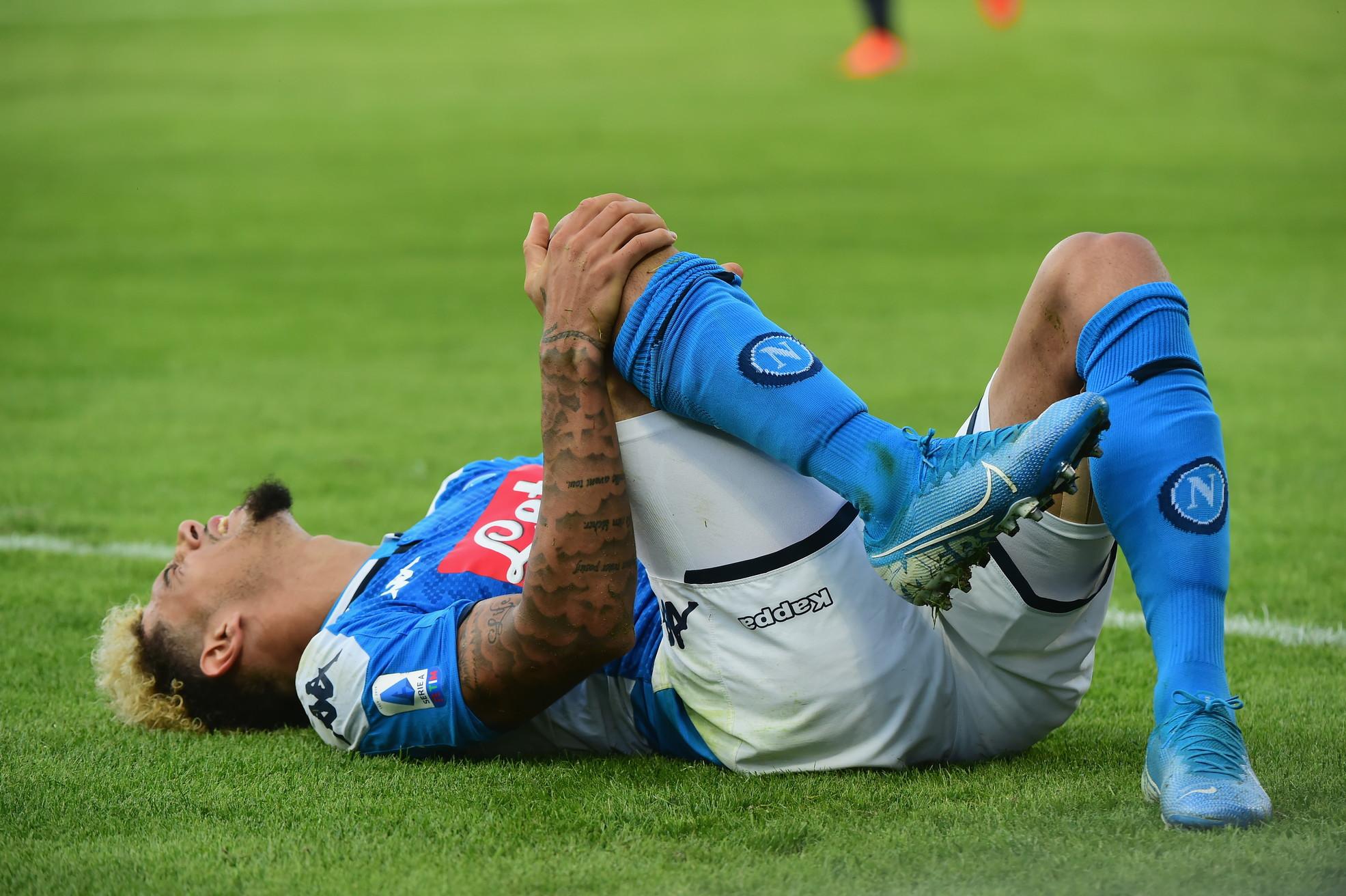 L'infortunio del difensore del Napoli: lesione del legamento crociato anteriore e del menisco mediale del ginocchio destro
