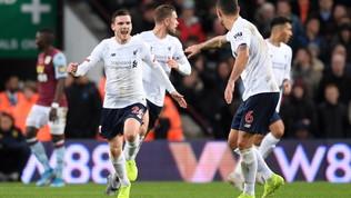 Premier League: altra rimonta del Liverpool, 2-1 contro l'Aston Villa, il City ribalta il Southampton. Chelsea ok