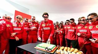 La Ferrari festeggia...i 50 anni di Mattia Binotto
