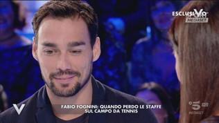 """Fognini a Verissimo: """"Aspettiamo una bimba, spero Federico non giochi a tennis"""""""