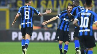 Vecino e Barella ribaltano il Verona: Inter prima