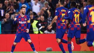 Tripletedi Messi: il Barcellona risponde subito al Real Madrid
