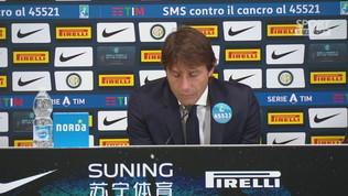 """Inter,""""Conte: """"L'orgoglio di essere primi in classifica"""""""