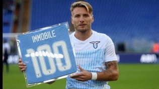 Lazio, doppia premiazione per Immobile: 100 gol e Mvp di ottobre