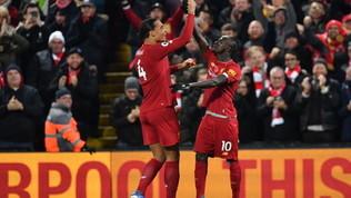 Il Liverpool cala il tris con il City e allunga in vetta