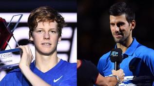 """L'investitura di Djokovic: """"Sinner diventerà una stella"""""""
