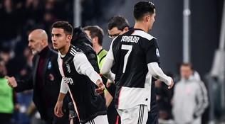 Juve-Milan, Ronaldo sostituito va dritto negli spogliatoi