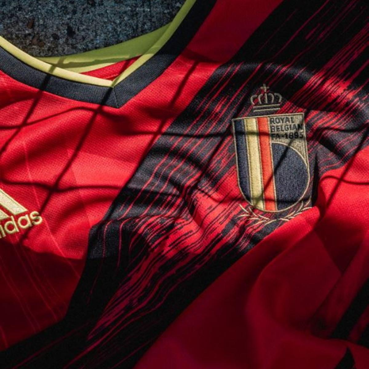 Adidas ha svelato la maglia del Belgio per gli Europei.
