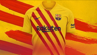 Il Barça rende omaggio alla bandiera catalana per i 120 anni