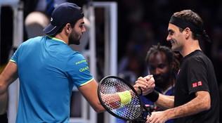 Berrettini perde anche con Federer