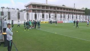 Ronaldo si allena con il Portogallo
