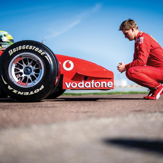 Mick Schumacher, che emozione: prova la F2002 a di papà a Fiorano - Sportmediaset - Sport Mediaset