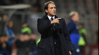"""Nazionale, Mancini: """"Il record fa piacere, Italia ottima in Bosnia"""""""