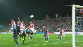 Croazia-Slovacchia 2-1: il gol di Petkovic