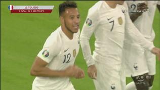 """Albania-Francia 0-1:""""Tolisso""""sblocca di testa"""