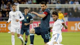 Argentina-Uruguay, che spettacolo: Messi pareggia nel recupero