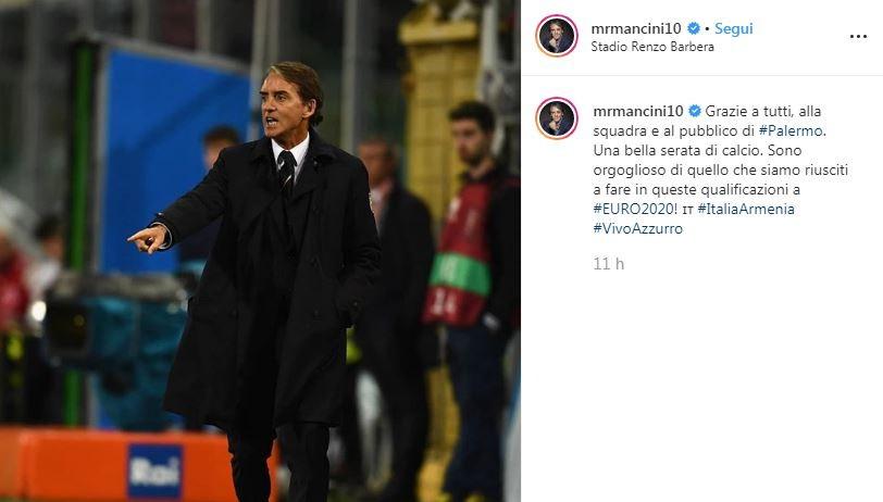Le reazioni social dell'Italia dopo il 9-1 all'Armenia: ora si pensa solo a Euro 2020.