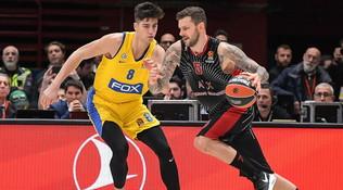 Basket, Eurolega: Milano batte il Maccabi 92-88 e si conferma in testa