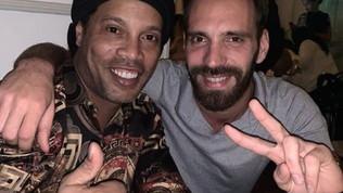 Metti due campioni a cena: Vergne con Ronaldinho