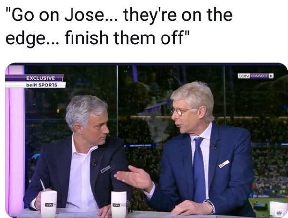 """Wenger a Mou: """"Sono sull'orlo del precipizio, ora finiscili"""""""