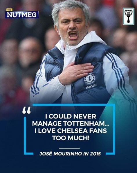 """Il ricordo della frase del 2015 quando Mou disse """"Non allenerò mai il Tottenham)"""