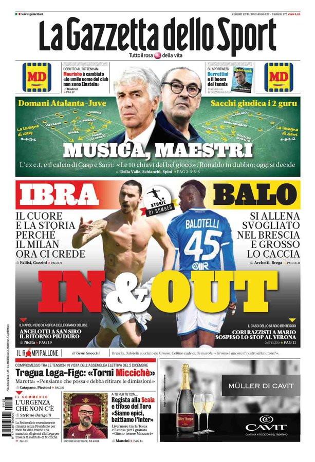 La rassegna sportiva italiana e internazionale