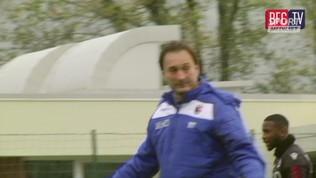 Il Bologna si allena con Mihajlovic