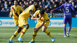 Liga: il Barcellona ribalta 2-1 il Leganés con Suarez e Vidal, il Real Madrid rimonta 3-1 in casa