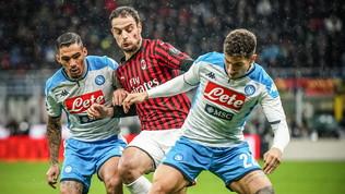 Milan e Napoli, vince la paura: 1-1 a San Siro