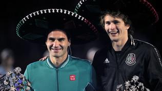 Messico, oltre 42mila persone in delirio per Federer-Zverev