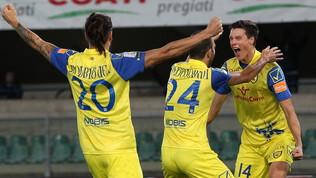 Serie B, Chievo-Entella 2-1: Marcolini terzo con Crotone e Cittadella