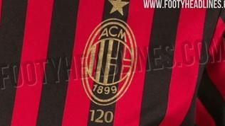 Milan, maglia celebrativa per i 120 anni:la trama è d'oro